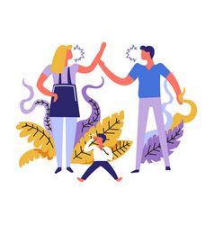 family problems people shouting one on another vector image