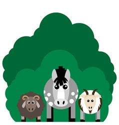 Farm animals Horse sheep goat vector