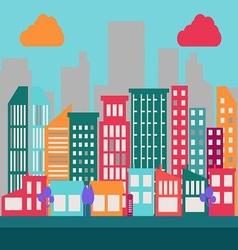 Flat City Scene 1 vector image