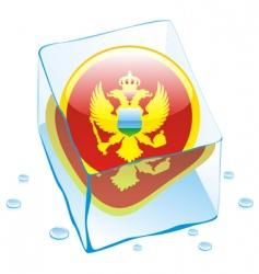 frozen button flag of montenegro vector image