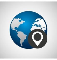global technology design vector image