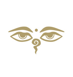 gold buddha eyes vector image