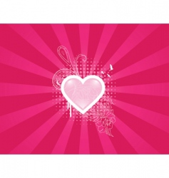 Heart floral vector