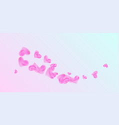 hearts of confetti for valentines day vector image
