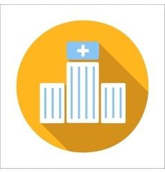 Hospital flat icon vector