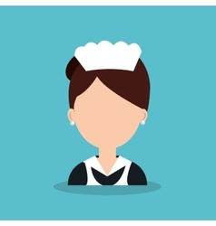 Hotel worker housekeeper icon vector