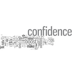 How to boost confidence quickly and easily vector