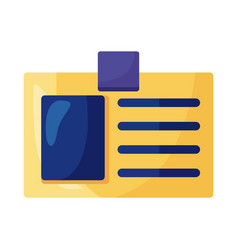 Id document detailed style icon vector
