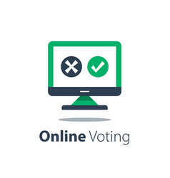 Internet voting submit online government vector