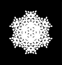 isolated halftone snowflake vector image