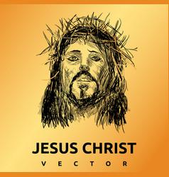 jesus christ gold background vector image
