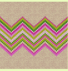 knitted seamless pattern classic knitwear vector image