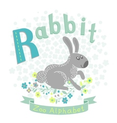 Letter R - Rabbit vector