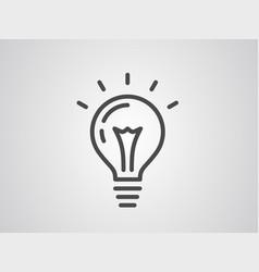 light bulb icon sign symbol vector image
