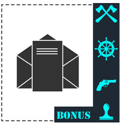 mail letter icon flat vector image