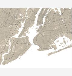 Map new york usa united states street map art vector
