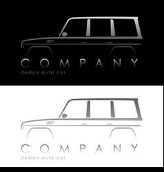 modern auto company logo vector image vector image