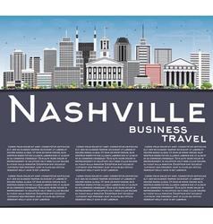 Nashville Skyline with Gray Buildings vector