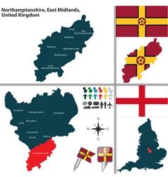 Northamptonshire East Midlands vector