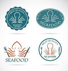 Octopus seafood vector image