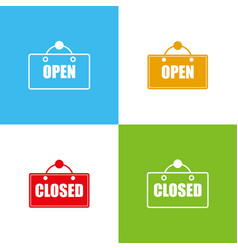Open and closed icon vector