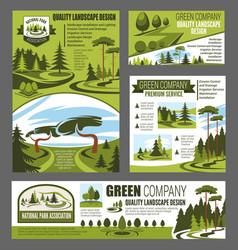 park and garden landscape design vector image