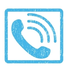 Phone Call Icon Rubber Stamp vector