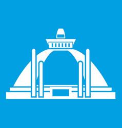Polonnaruwa ancient stupa icon white vector
