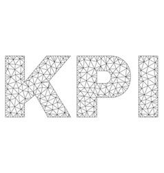 Polygonal mesh kpi text label vector