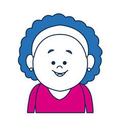 Portrait woman avatar casual faceless image vector