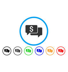 Price bids rounded icon vector
