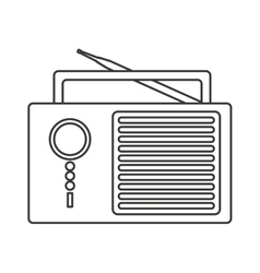 Radio retro audio device vector