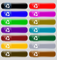 Recycle icon sign Set from fourteen multi-colored vector