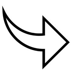 Redo Thin Line Icon vector