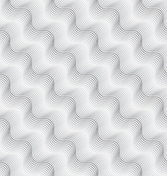 Repeating ornament diagonal wavy on white vector
