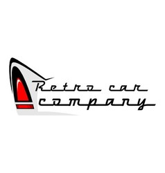 Retro car logo vector
