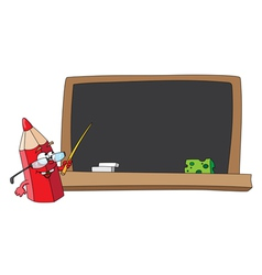 school pencil and blackboard vector image