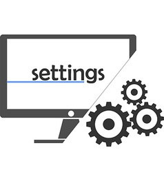 settings vector image