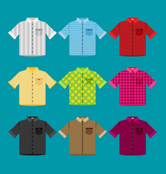Shirts colored templates for your design in flat vector