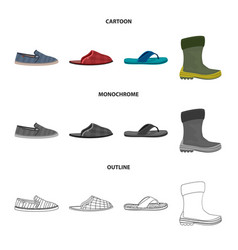 Shoe and footwear icon set vector