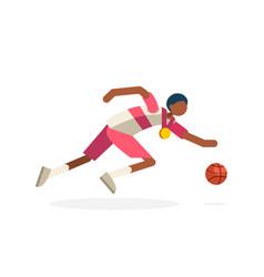 shooting player basketball hoop vector image