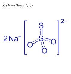 Skeletal formula sodium thiosulfate drug vector