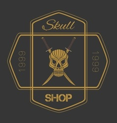 Skull Badges vector image