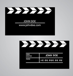 Slate board business card template vector