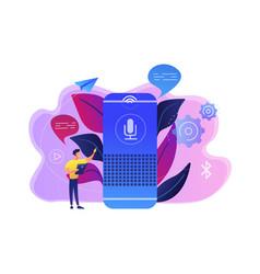Smart speaker concept vector