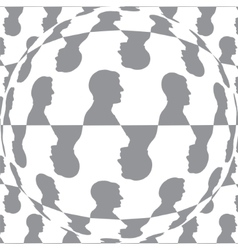 Sphere with man pattern background isolated vector