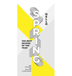 Spring typograpical design modern graphic vector