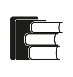 Stack of books sign black vector