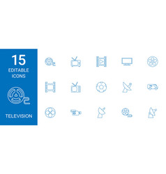 television icons vector image