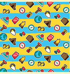 travel seamless cartoon pattern vector image
